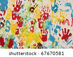 Handprints In Different Colors...