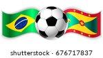 brazilian and grenadian wavy... | Shutterstock .eps vector #676717837