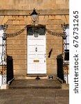 grand doorway to a large... | Shutterstock . vector #676731265