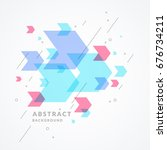 trendy abstract background.... | Shutterstock .eps vector #676734211