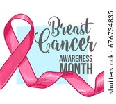 breast cancer awareness month... | Shutterstock .eps vector #676734835