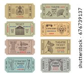 vintage theatre or cinema... | Shutterstock .eps vector #676739137