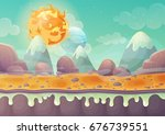 galaxy or cosmos planet... | Shutterstock .eps vector #676739551