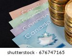 canadian dollar  concept of... | Shutterstock . vector #676747165