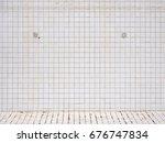 grungy white square ceramic... | Shutterstock . vector #676747834