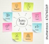 vector infographic business...   Shutterstock . vector #676760269