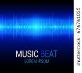 music beat vector. blue lights... | Shutterstock .eps vector #676761025