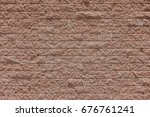 Rough Red Brick Wall Pattern...
