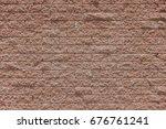 rough red brick wall pattern... | Shutterstock . vector #676761241