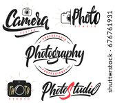 set of lettering and... | Shutterstock .eps vector #676761931