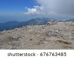 mountain walk to vihren peak.... | Shutterstock . vector #676763485