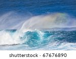 Huge Breaking Wave With A Nice...