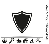 shield icon  black vector... | Shutterstock .eps vector #676773955