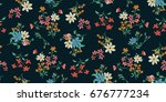 seamless floral pattern in... | Shutterstock .eps vector #676777234