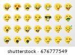 emoji   emoticon sticker set | Shutterstock .eps vector #676777549