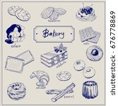 bakery products hand drawing