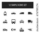 set of 12 editable shipment... | Shutterstock .eps vector #676789174