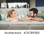 picture of happy couple... | Shutterstock . vector #676789585