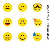 flat icon expression set of... | Shutterstock .eps vector #676790905