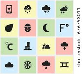 set of 16 editable weather...