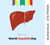 world hepatitis day. vector...   Shutterstock .eps vector #676793404