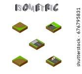 isometric way set of subway ...   Shutterstock .eps vector #676795831