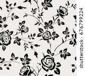 seamless pattern with black... | Shutterstock .eps vector #676799224