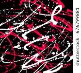grunge splatter background. ink ... | Shutterstock .eps vector #676799881