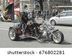 riga  latvia   april 30  2016 ... | Shutterstock . vector #676802281