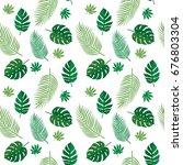 green tropical summer seamless... | Shutterstock .eps vector #676803304