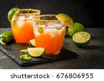 alcohol. traditional mexican... | Shutterstock . vector #676806955