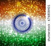 indian flag celebration...   Shutterstock .eps vector #676808401