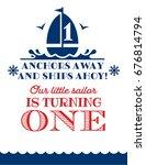 nautical sailor theme printable ... | Shutterstock .eps vector #676814794