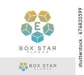 box star initial letter e logo... | Shutterstock .eps vector #676820599