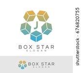 box star initial letter j logo... | Shutterstock .eps vector #676820755
