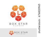 box star initial letter l logo... | Shutterstock .eps vector #676820965