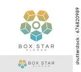box star initial letter o logo... | Shutterstock .eps vector #676820989
