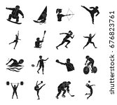 hockey  tennis  boxing sports... | Shutterstock . vector #676823761