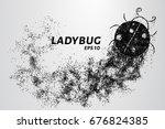 ladybug of particles. ladybug... | Shutterstock .eps vector #676824385
