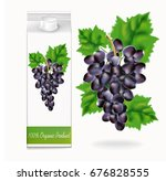 grapes  packing of juice  on... | Shutterstock .eps vector #676828555