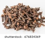 drying clove spice  syzygium... | Shutterstock . vector #676834369