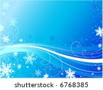 snowflake design with blue...   Shutterstock .eps vector #6768385