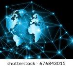 best internet concept. globe ... | Shutterstock . vector #676843015