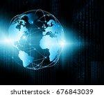 best internet concept. globe ... | Shutterstock . vector #676843039