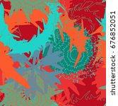 coloring mechanic flower... | Shutterstock .eps vector #676852051