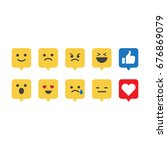 social media emoticon reactions.... | Shutterstock .eps vector #676869079