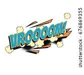 vroom comic word. pop art retro ... | Shutterstock .eps vector #676869355
