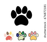 cats or dogs paws set. cute...
