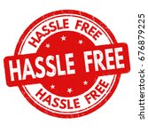 hassle free sign or stamp on... | Shutterstock .eps vector #676879225