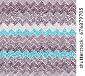 seamless ikat pattern. simple... | Shutterstock .eps vector #676879705